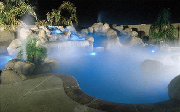Pool Side Misting Fans : Make your pool look awesome misting systems