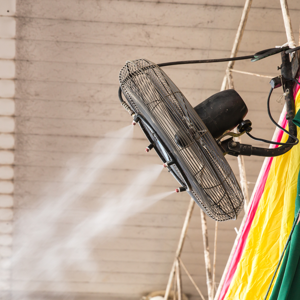 Air Misting Fan : How misting systems and fans benefit your