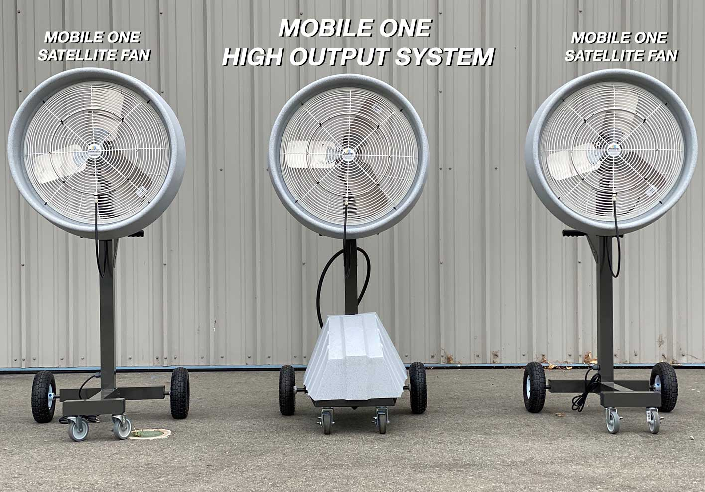 Mobile ll - 24 Inch Air Circulator High Output Mobile Misting Oscillating Fan