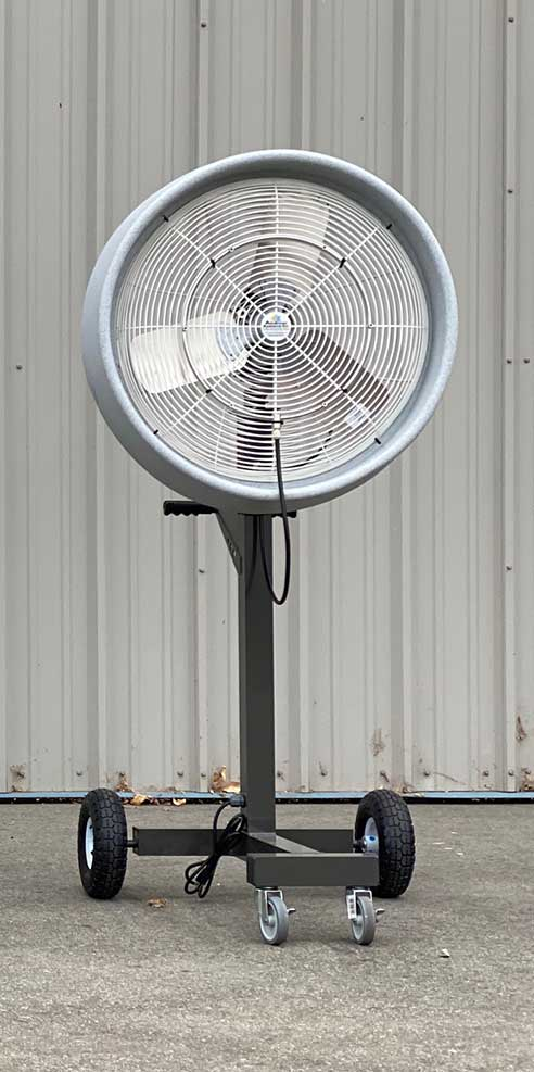 Mobile One Satellite Fan - High Output Portable Misting Fan