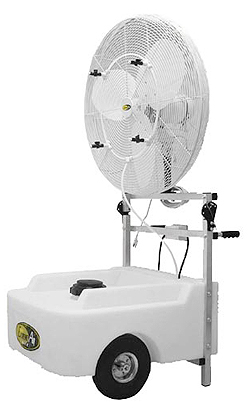 Portable Cooling Low pressure Non Oscillating Misting Fan 18""