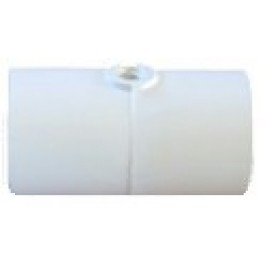 """1/2"""" PVC Coupling without Nozzle with 10/24 threaded nozzle port"""