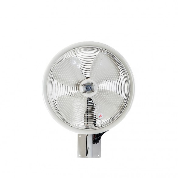 "18"" Oscillating wall mount misting fan, White"