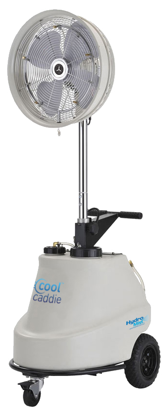 Cool Caddie-Self Contained Portable 1000 PSI Misting Fan