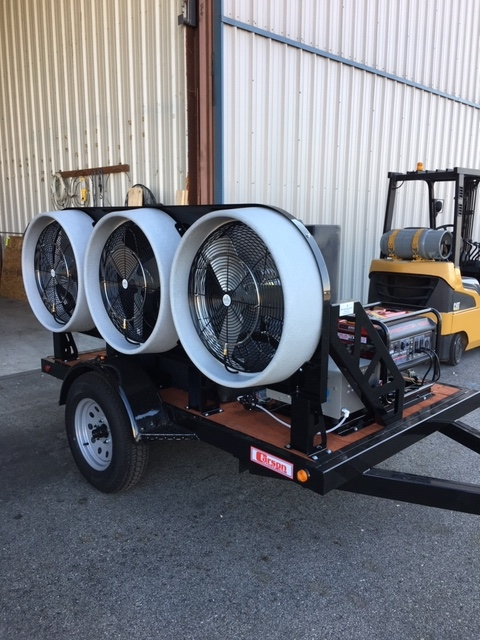 Mobile 3 Self Contained Cooling Trailer