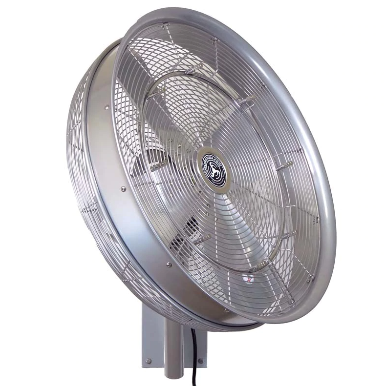 HydroMist 24 Inch Shrouded Outdoor Wall Mount Oscillating Fan (Ring, 8 Nozzles and 3/8 Hose Fitting Included)
