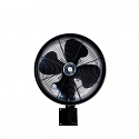 """18"""" Oscillating wall mount misting fan, Black or White"""
