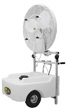 Portable Cooling Low pressure Oscillating Misting Fan 30""