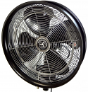 HydroMist 18 Inch Shrouded Outdoor Wall Mount Oscillating Fan (Ring, 5 Nozzles and 3/8 Hose Fitting Included)