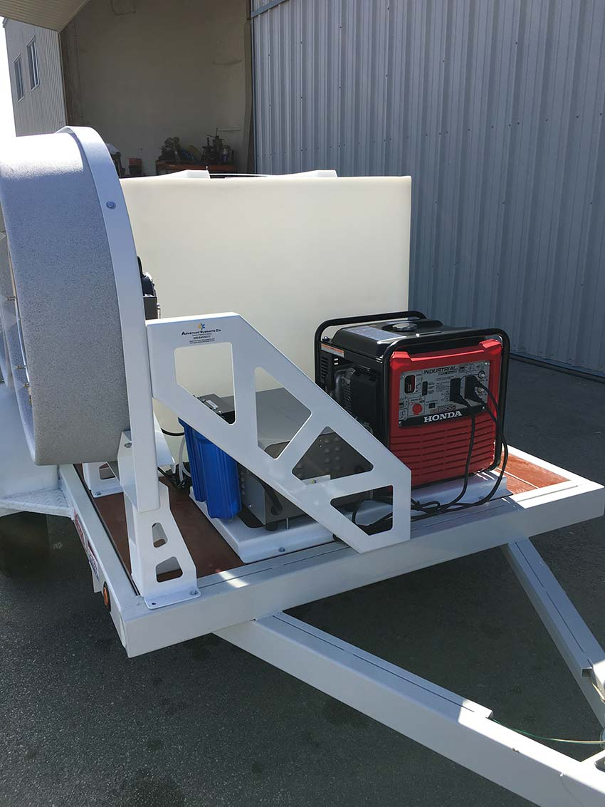 Cooling Trailer Pump and Generator