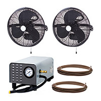 Wall-Mounted Misting Fans